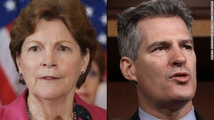 Jeane Shaheen and GOP Opponent Scott Brown