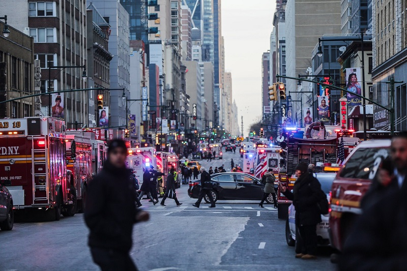Suicide Bomb Attack Near Times Square in Manhattan